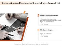 Research Question Hypothesis For Research Project Proposal Ppt Powerpoint Guide