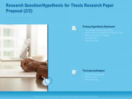 Research Question Hypothesis For Thesis Research Paper Proposal Statement Ppt File Slides