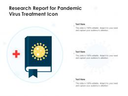 Research Report For Pandemic Virus Treatment Icon