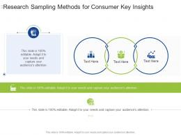 Research Sampling Methods For Consumer Key Insights Infographic Template