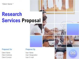 Research Services Proposal Powerpoint Presentation Slides