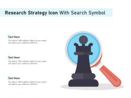 Research Strategy Icon With Search Symbol