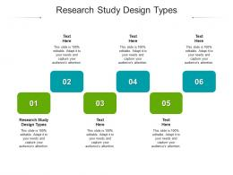 Research Study Design Types Ppt Powerpoint Presentation Pictures Model Cpb