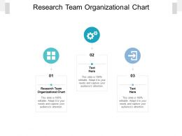 Research Team Organizational Chart Ppt Powerpoint Presentation File Gallery Cpb