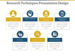 Research Techniques Presentation Design