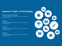 Research Topics In Psychology Ppt Powerpoint Presentation File Slide Download