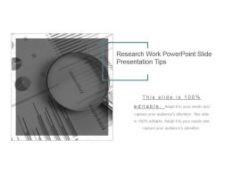 Research Work Powerpoint Slide Presentation Tips