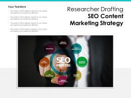 Researcher Drafting SEO Content Marketing Strategy