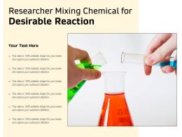 Researcher Mixing Chemical For Desirable Reaction