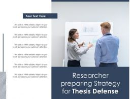 Researcher Preparing Strategy For Thesis Defense