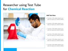 Researcher Using Test Tube For Chemical Reaction