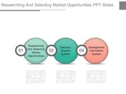 Researching And Selecting Market Opportunities Ppt Slide