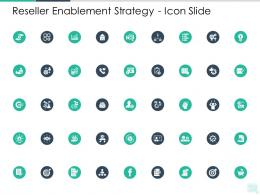 Reseller Enablement Strategy Icon Slide Ppt Summary