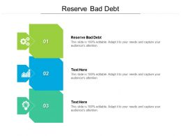 Reserve Bad Debt Ppt Powerpoint Presentation Show Samples Cpb