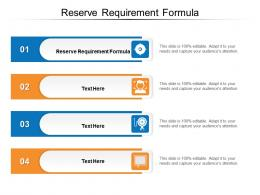 Reserve Requirement Formula Ppt Powerpoint Presentation Icon Background Designs Cpb