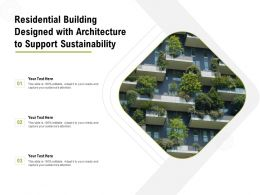Residential Building Designed With Architecture To Support Sustainability