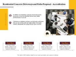 Residential Concrete Driveways And Paths Proposal Accreditation Ppt Powerpoint Gallery