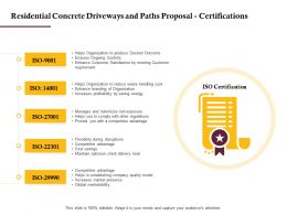 Residential Concrete Driveways And Paths Proposal Certifications Ppt Powerpoint Deck