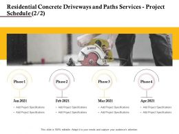 Residential Concrete Driveways And Paths Services Project Schedule Phase Ppt Powerpoint Design