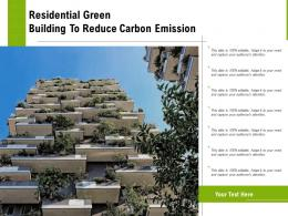 Residential Green Building To Reduce Carbon Emission