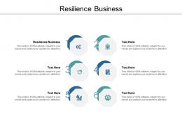 Resilience Business Ppt Powerpoint Presentation Summary Structure Cpb