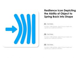 Resilience Icon Depicting The Ability Of Object To Spring Back Into Shape