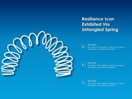 Resilience Icon Exhibited Via Untangled Spring