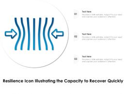 Resilience Icon Illustrating The Capacity To Recover Quickly