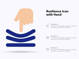 Resilience Icon With Hand
