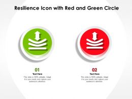 Resilience Icon With Red And Green Circle
