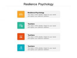 Resilience Psychology Ppt Powerpoint Presentation File Diagrams Cpb