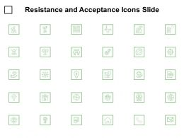 Resistance And Acceptance Icons Slide Checklist Technology Ppt Powerpoint Presentation Infographics Good