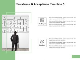 Resistance And Acceptance Template Maze Ppt Powerpoint Presentation Infographics Deck