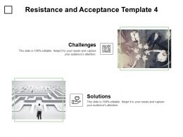 Resistance And Acceptance Template Puzzle Ppt Powerpoint Presentation Infographics Aids