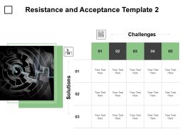 Resistance And Acceptance Template Table Ppt Powerpoint Presentation Infographics Images