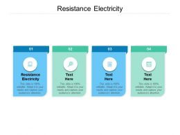 Resistance Electricity Ppt Powerpoint Presentation Ideas Display Cpb
