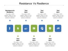 Resistance Vs Resilience Ppt Powerpoint Presentation Show File Formats Cpb