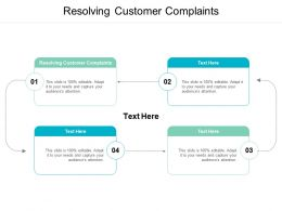 Resolving Customer Complaints Ppt Powerpoint Presentation Layouts Background Images Cpb