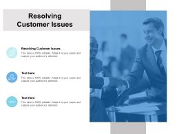 Resolving Customer Issues Ppt Powerpoint Presentation Infographics Examples Cpb