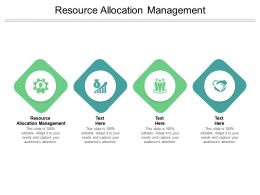 Resource Allocation Management Ppt Powerpoint Presentation Ideas Gridlines Cpb