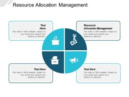 Resource Allocation Management Ppt Powerpoint Presentation Layouts Graphic Images Cpb