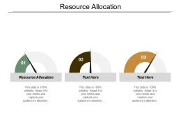 Resource Allocation Ppt Powerpoint Presentation Infographic Template Outline Cpb