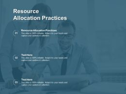 Resource Allocation Practices Ppt Powerpoint Presentation Inspiration Portfolio Cpb