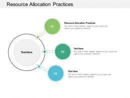 Resource Allocation Practices Ppt Powerpoint Presentation Styles Aids Cpb