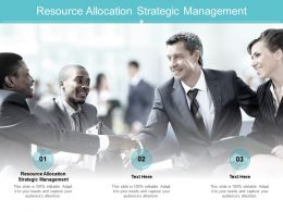 Resource Allocation Strategic Management Ppt Powerpoint Presentation Show Example Cpb