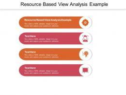 Resource Based View Analysis Example Ppt Powerpoint Presentation Ideas Visual Aids Cpb