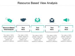 Resource Based View Analysis Ppt Powerpoint Presentation Outline Graphics Template Cpb
