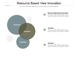 Resource Based View Innovation Ppt Powerpoint Presentation Professional Gridlines Cpb