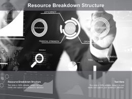 Resource Breakdown Structure Ppt Powerpoint Presentation Infographics Graphics Cpb