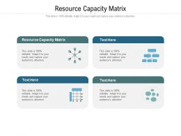 Resource Capacity Matrix Ppt Powerpoint Presentation Infographic Template Graphics Cpb